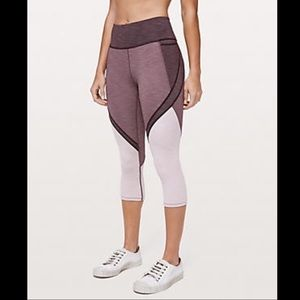 New Lululemon Early Extension Purple Crop Tight 10